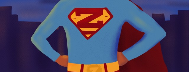 a super hero with a z on their chest whose super power is sleep